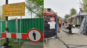 Budowa II linii metra: zamknęli dwa skrzyżowania, likwidują bazarek